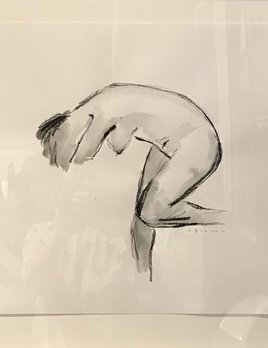 Thomas Bucich -  Figure Study - Charcoal, Pencil on Paper - 58H x 58H Framed