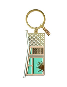 Curated House Palm Spring House Keyring - Enamel with Gold Plating - France