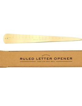 Curated House Brass Letter Opener - USA