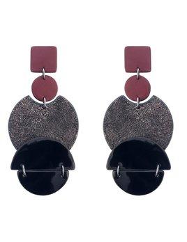 My Poloma Loro Leather Earrings - Columbia