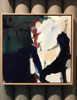 Inner Circle 2018 - Antonia Mrljak -  Ink, Acrylic on Linen, Oak Framed - 64x64cm