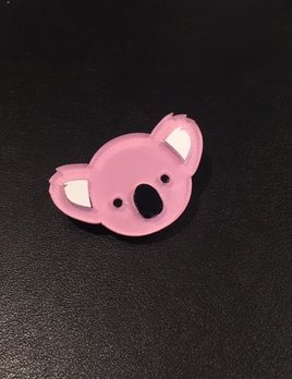 BECKER MINTY Pink Koala Brooch - Laser Cut Plexiglass - From Russia with Love