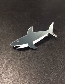 BECKER MINTY Shark Brooch - Laser Cut Plexiglass - From Russia with Love
