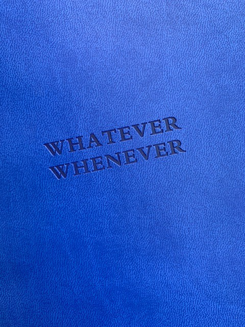 BECKER MINTY Whatever Whenever - Electric Blue BECKER MINTY Notebook / Journal - A5