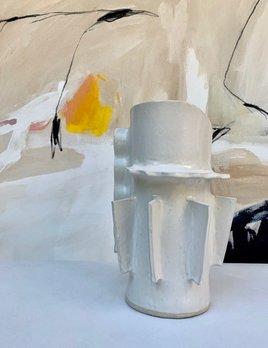 Natalie Rosin White Ceramic Vase by Natalie Rosin - Handmade in Australia
