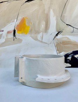 Natalie Rosin White Ceramic Bowl by Natalie Rosin - D20cm - Handmade in Australia