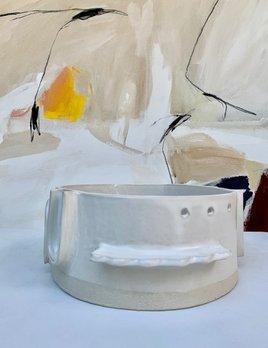 Natalie Rosin White Ceramic Bowl by Natalie Rosin - D30cm - Handmade in Australia