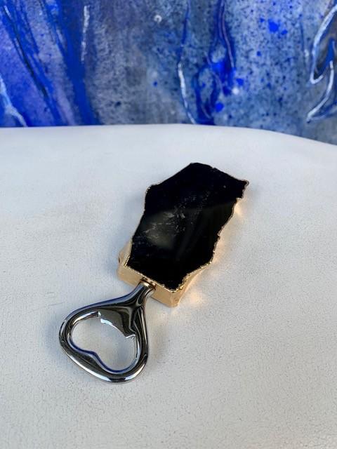 Rablabs Bottle Opener - Obsidian - Gold Edge