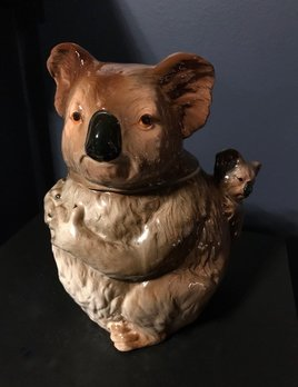 B.M.V.A. Vintage Koala Cookie Jar - 15cm - Japan