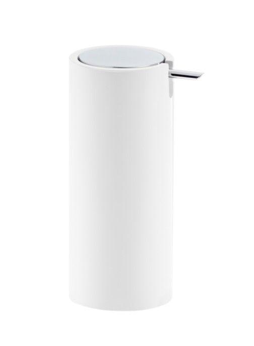 DW - Stone Soap Dispenser - White/Chrome - 17 x 0 x 9.5cm - Germany