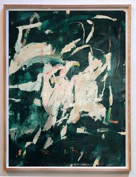 Gift #41 - Antonia Mrljak - Acrylic, Ink and Charcoal on Paper - 97x125cm - Oak Box Frame - 2018