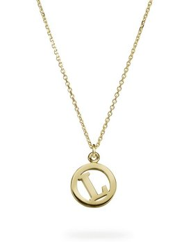 Me & My Initial Necklace by Luke Rose - 14ct Yellow Gold Diamond Cut Chain with 9ct Yellow Gold Letter
