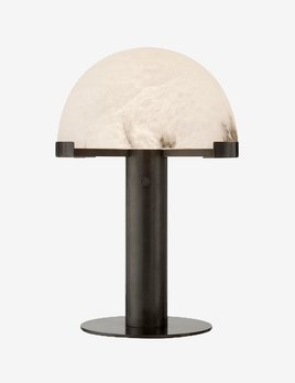 "Kelly Wearstler Kelly Wearstler - Melange Desk Lamp in Bronze and Alabaster - Height: 18""<br /> Width: 12.25""<br /> Base: 8.5"" Round<br /> Wattage: 12 LED - A"