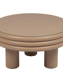 giobagnara Scala Leather Coffee Table - Cappuccino Nappa - Giobagnara for Becker Minty - D60cm H31 cm - Made in Italy - BY ORDER ONLY - Various Colours Available - Lead Time Approx 12-16 weeks