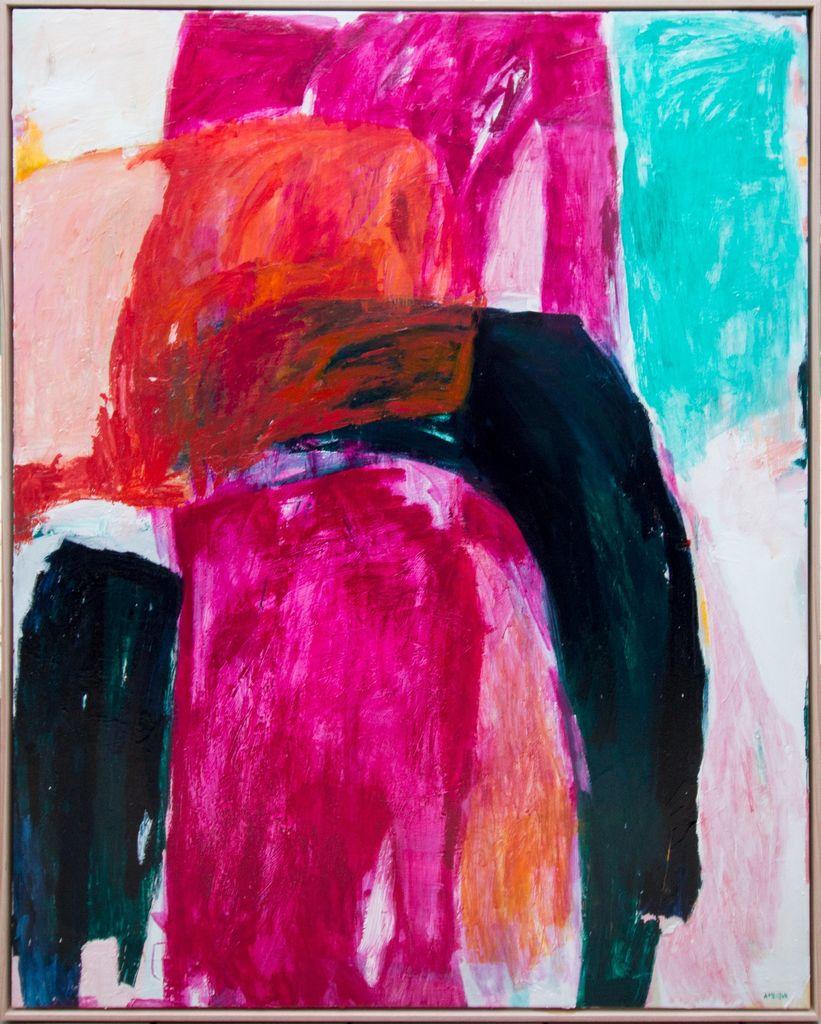New Language 2018  by Antonia Mrljak - Acrylic on Canvas, Oak Frame - 155x125cm