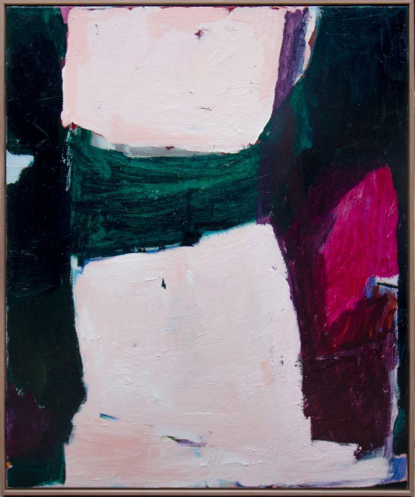 Subject of Time 2018 by Antonia Mrljak - Acrylic on Canvas, Oak Frame - 104.5x126cm