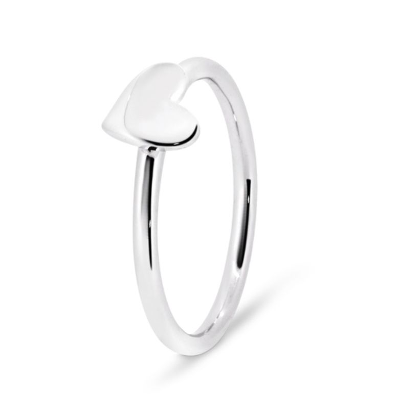 Rick Southwick - La Bella 18ct White Gold Heart Ring - Handcrafted in Australia
