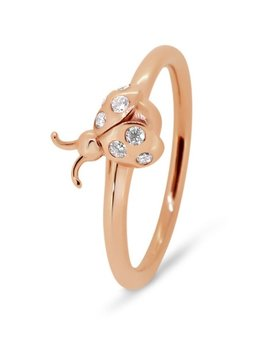 Rick Southwick - La Bella 14ct Rose Gold Diamond Ladybug Ring Set with 7 Diamonds = 9 Points - Handcrafted in Australia