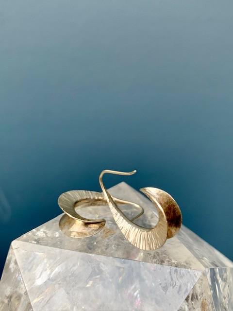 Jan Hooft - Cresent Earrings - Sterling Silver - Handmade in Australia