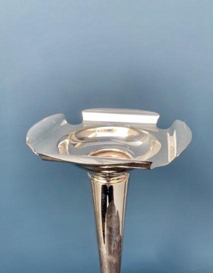 Vintage Kegworth Silver Plate Bud Vase - Weighted Base H26cm