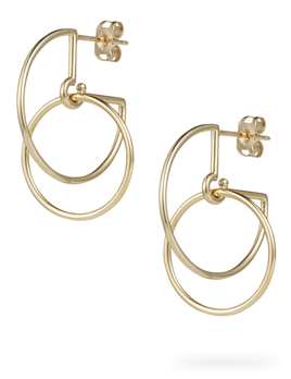 Circus Hoops Earrings - 9ct Yellow Gold