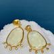 Lisa Black Jewellery - Lemon Quartz Stellar Drop Earrings with Chrysoberyl - 22ct Gold - Handmade in Australia