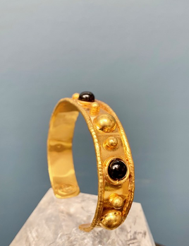 Sylvia Toledano Sylvia Toledano - Stone Massai Bracelet - 18ct Gold Plated Brass with Onyx - Paris
