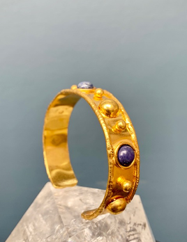 Sylvia Toledano Sylvia Toledano - Stone Massai Bracelet - 18ct Gold Plated Brass with Lapis - Paris