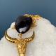 KIFU KIFU Paris - Buffalo Necklace with Black Horn - Gold plated brass - Paris