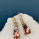 Laura B LAURA B - Effel - Silver, Rose and Gold Mesh with Swarovski Crystal Earrings -  Handmade in Spain