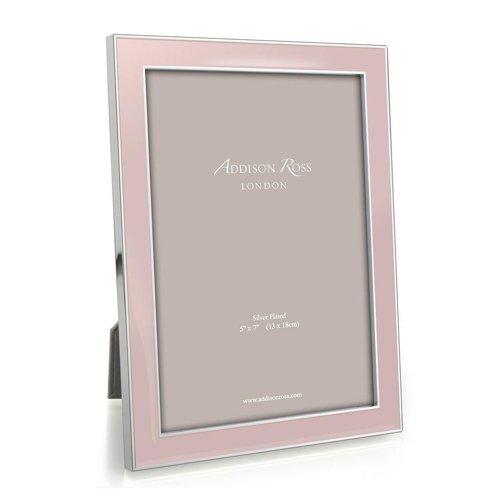 Addison Ross Addison Ross - Enamel Photo Frame - 4x6 - Light Pink/Silver