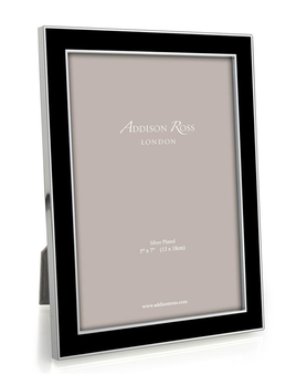 Addison Ross Addison Ross - Enamel Photo Frame - 4x6 - Black/Silver