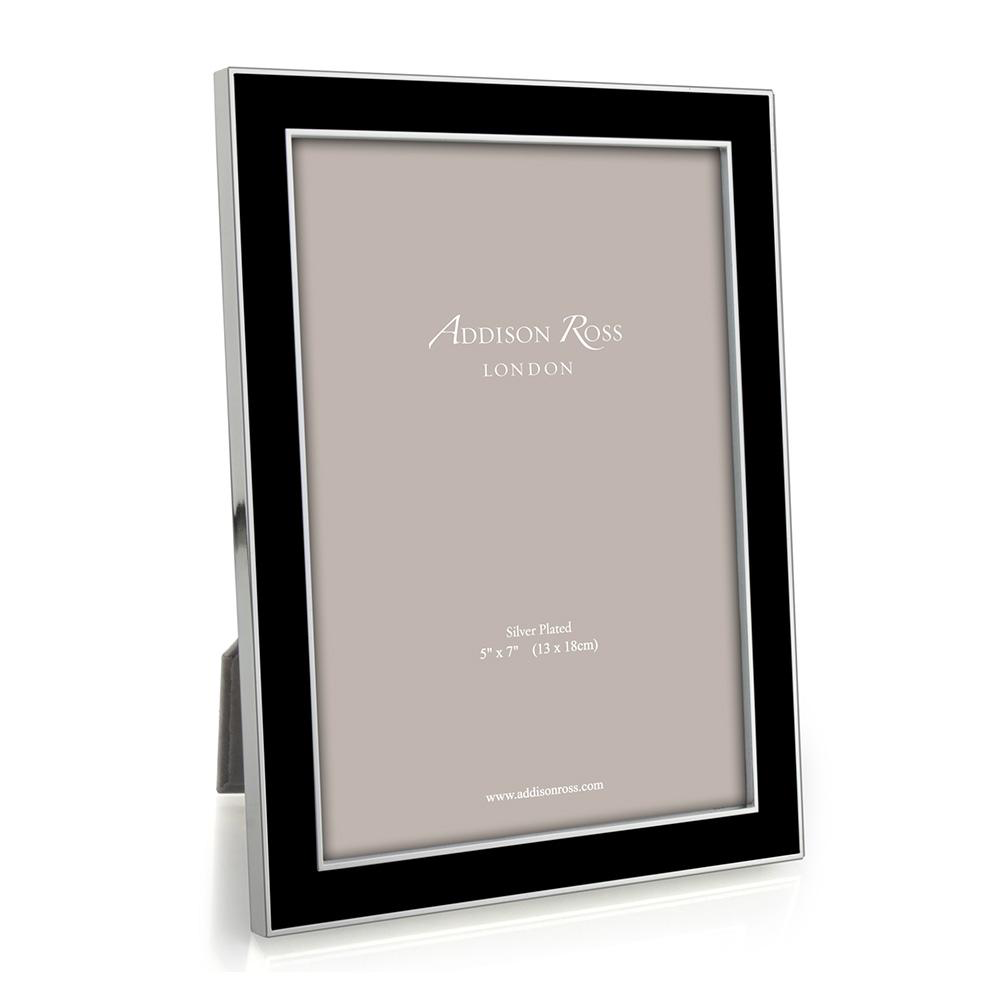 Addison Ross Addison Ross - Enamel Photo Frame - 8x10 - Black/Silver
