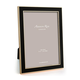 Addison Ross Addison Ross - Enamel Photo Frame - 5x7 - Black/Gold