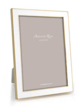 Addison Ross Addison Ross - Enamel Photo Frame - 4x6 - White/Gold