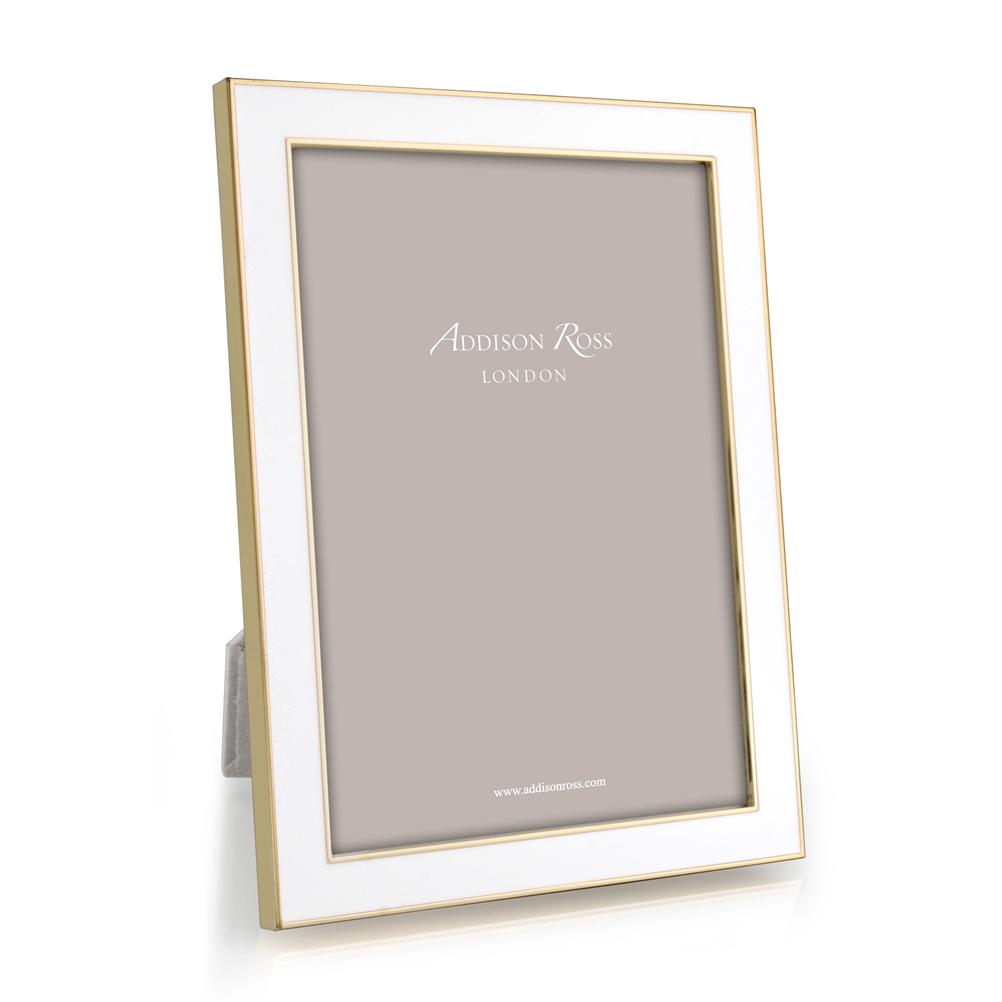 Addison Ross Addison Ross - Enamel Photo Frame - 4x6 - White/Gold