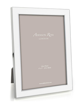 Addison Ross Addison Ross - Enamel Photo Frame - 4x6 - White/Silver