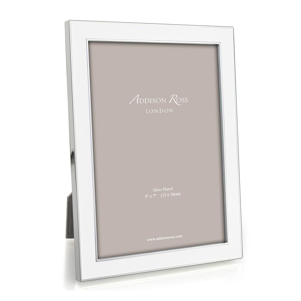 Addison Ross Addison Ross - Enamel Photo Frame - 4x6 - White/Silver