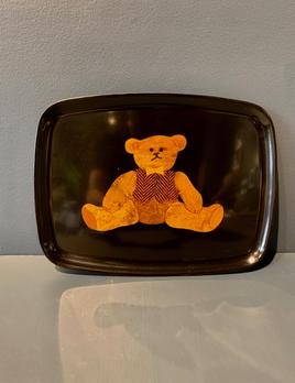 Vintage Couroc Teddy Tray - Rectangular