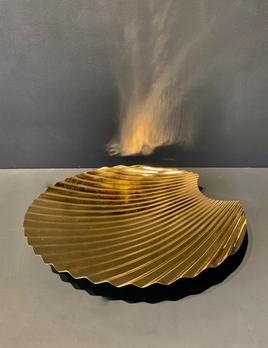 AYTM Brass Conche Shell Dish or Platter D42.5cm