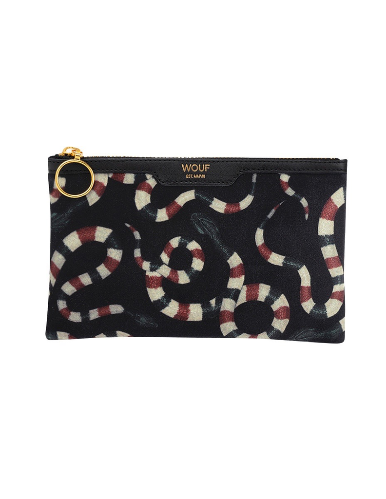Until/See Concept Wouf - Snakes Pocket Clutch