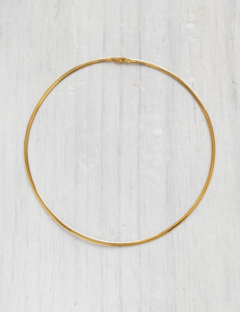Verse - Omega Gold Necklace in 9ct Yellow Gold - 3mm, 12.05grams - Handcrafted in Australia