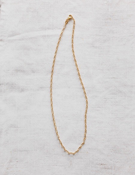 Verse - Oval Link Chain Necklace in 9ct Yellow Gold - 45cm, 3.23grams - Handcrafted in Australia