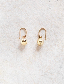 Verse - Drop Ball Earrings in 9ct Yellow Gold - 3.8grams Handcrafted in Australia