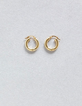 Verse - Small Hoop Earrings in 9ct Yellow Gold - 18mm, 1.97grams - Handcrafted in Australia