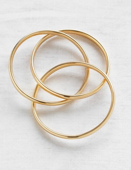 Verse - Russian Bangles Thick in 9ct Yellow Gold - 5.91mm, 27.26grams - Handcrafted in Australia