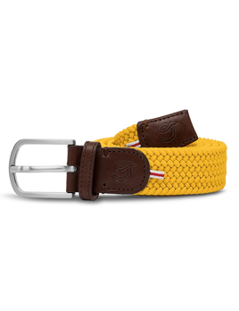 Until/See Concept LA Boucle Originale - Los Angeles -  Stretchable Woven Belt Made To Fit Many Sizes - Yellow