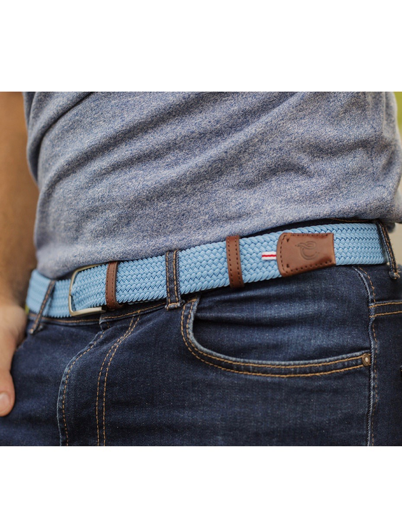 Until/See Concept LA Boucle Originale - Montreal -  Stretchable Woven Belt Made To Fit Many Sizes - Blue
