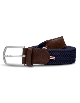 Until/See Concept LA Boucle Originale - Paris -  Stretchable Woven Belt Made To Fit Many Sizes - Navy