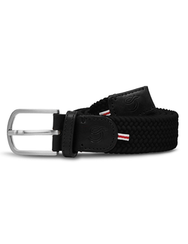 Until/See Concept LA Boucle Originale - London -  Stretchable Woven Belt Made To Fit Many Sizes - Black